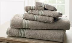 Bamboo Collection 6 piece towel SET - Grey