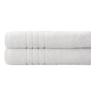 Spa Collection 2 piece OVERsized bath towel SET - White