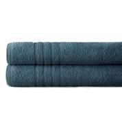 Spa Collection 2 piece OVERsized bath towel SET - Denim Blue