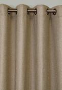 Faux Jute Grommet Top Curtain Panel - Oatmeal
