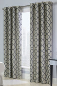 Clover Grommet Top Curtain Panel - Navy