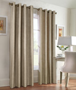 Navar Total Blackout Grommet Top Curtain Panel - Taupe