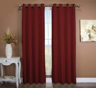 Tacoma Double Blackout Grommet Top Curtain Panel - Floral Rose (2 panels shown)
