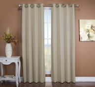 Tacoma Double Blackout Grommet Top Curtain Panel - Parchment ( 2 panels shown)
