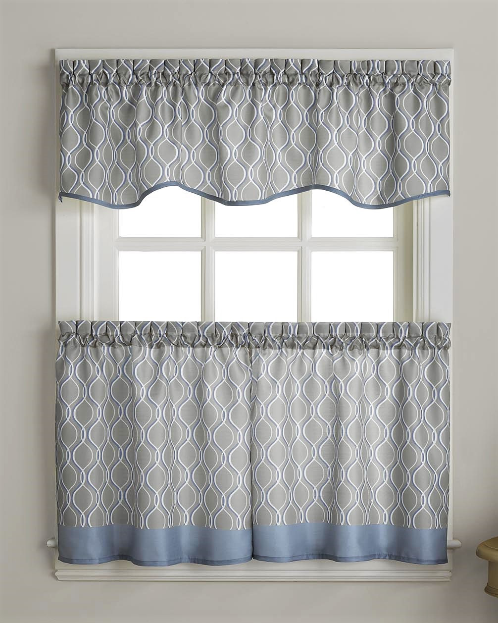 morocco kitchen curtain - grey - linens4less