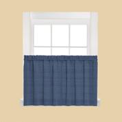 """Austin 36"""" Kitchen Curtain Tier - Denim Blue"""