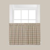 "Dexter Plaid 24"" Kitchen Curtain Tier - Green"