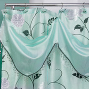 Avanti Shower Curtain - Aqua with valance (hooks not included) from Popular Bath