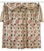Lillian Shower Curtain with valance (hooks not included) from Popular Bath