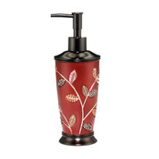 Aubury Lotion Dispenser - Burgundy lotion dispenser from Popular Bath