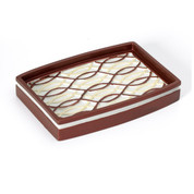 Harmony Soap Dish - Burgundy from Popular Bath