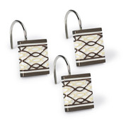 Harmony Shower Curtain Hooks - Chocolate (set of 12) from Popular Bath