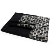 Mosaic 3pc Towel Set - Black