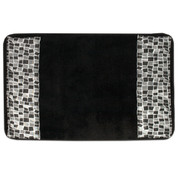 Mosaic Bath Mat Rug - Black