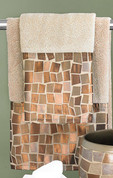 Mosaic 3pc Towel Set - Bronze