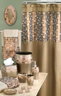 Mosaic Shower Curtain Bathroom Accessories