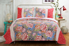 Gypsy Rose Quilt SET from Greenland Home Fashions