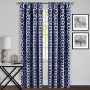 Tara Room Darkening Rod Pocket Curtains - Navy Blue from Achim