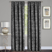 Madison Black Room Darkening Rod Pocket Curtains from Achim