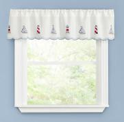 Lighthouse kitchen curtain valance