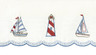 Lighthouse Embroidered Kitchen Curtain