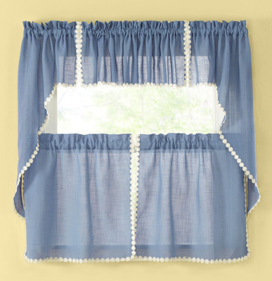 Andrea Kitchen Curtain - Colonial Blue