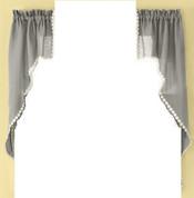 Andrea kitchen curtain swag - Gray
