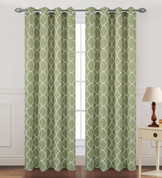 Kimberly Grommet Top Curtain Panel - Green