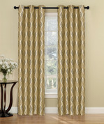 Calcutta Grommet Top Curtain Pair - Gold