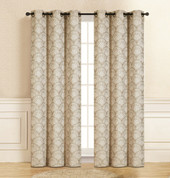 Lisbon Grommet Top Curtain Pair - Beige