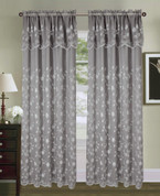 Carina Embroidered Curtain Panel - Grey/Silver