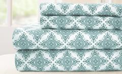 200 Thread Count Solid Sheet Set 100% cotton - Casablanca Blue