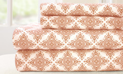 200 Thread Count Printed Sheet Set 100% cotton - Casablanca Coral