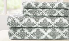 200 Thread Count Printed Sheet Set 100% cotton - Casablanca Gray