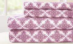 200 Thread Count Printed Sheet Set 100% cotton - Casablanca Lavender