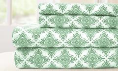 200 Thread Count Printed Sheet Set 100% cotton - Casablanca Sage