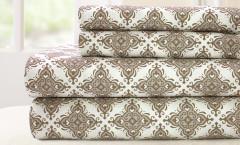 200 Thread Count Printed Sheet Set 100% cotton - Casablanca Stone