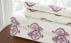 200 Thread Count Printed Sheet Set 100% cotton - Medallion Lavender