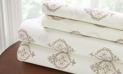 200 Thread Count Printed Sheet Set 100% cotton - Medallion Stone
