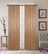 Diamond Grommet Top Curtain Panel - Gold