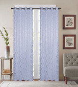 Diamond Grommet Top Curtain Panel - White