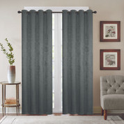 Gabriella Blackout Grommet Top Curtain Panel - Lagoon