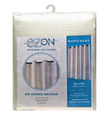 Waffle Weave Hookless Fabric Shower Curtain with Liner - Papyrus