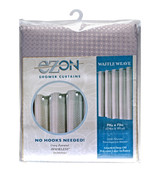Waffle Weave Hookless Fabric Shower Curtain with Liner - Moon Rock