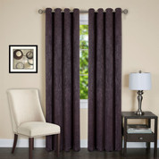 Jensen Blackout Grommet Top Curtain Panel - Chocolate