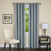 Jensen Blackout Grommet Top Curtain Panel - Ice Blue