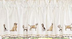 Dogs kitchen curtain valance