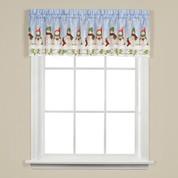 Winter Wonderland Christmas kitchen curtain valance