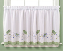 """Morning Song 36"""" kitchen curtain tier from Saturday Knight"""