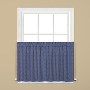 """Hopscotch kitchen curtain 24"""" tier - Denim Blue from Saturday Knight on Linens4Less.com"""